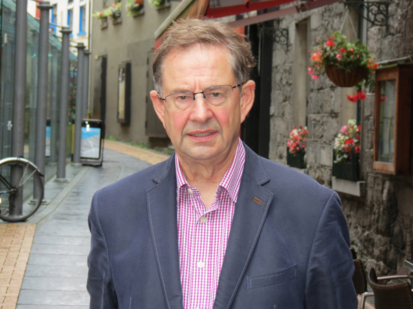 Eamon O'Cuiv outside his office in Galway City